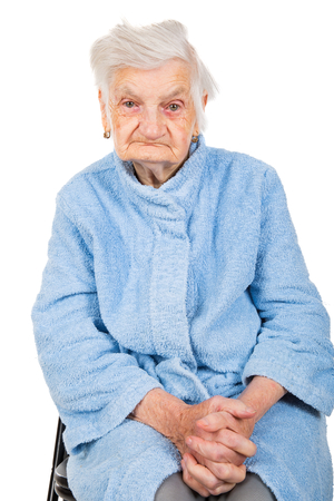 Photo of a beautiful happy senior woman face