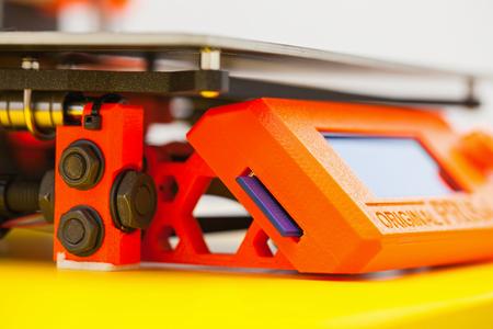 Close up printing detail three dimensional printer
