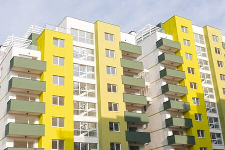 New residential area in Brasov, Romania - Flat blocks in construction Standard-Bild