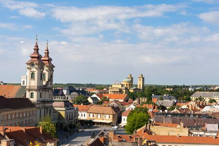 Beautiful picture of ancient city of Eger located in Hungary