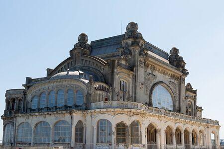 Picture of the famous casino in Constanta, Romania at the Black Sea harbor