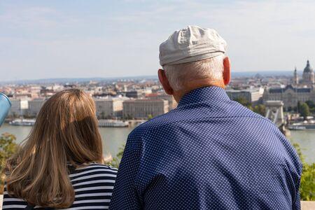 People enjoying the beautiful Budapest view