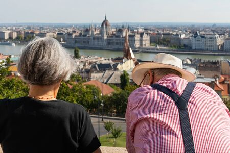 People enjoying the beautiful Budapest view