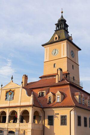 Medieval transylvanian buildings in Brasov,Romania 스톡 콘텐츠