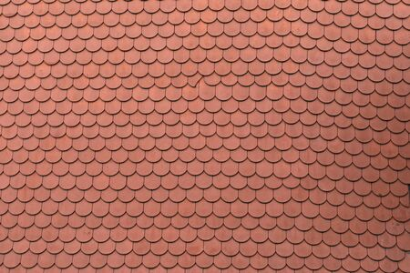 Top view of an old  red roof tile Stock fotó - 134749810
