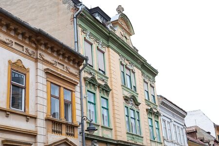 Buildings in the center of the famous city of Sibiu, situated in Romania