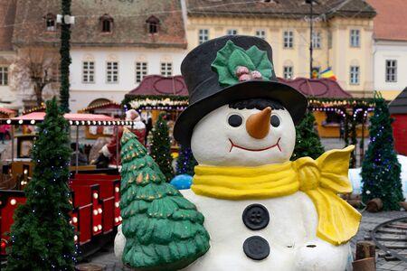 Christmas decoration in Sibiu winter fair, 2019 november