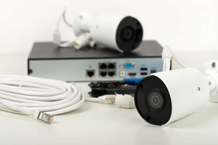 Picture of video surveillance installation for safety home - security camera