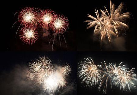 happening: Fireworks collage