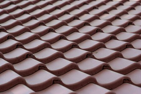 rooftile: Red tile roof patern