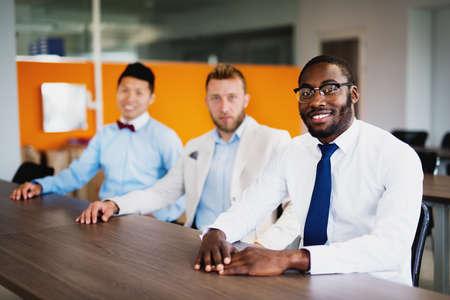 Team work - Business people - interns - work seminar