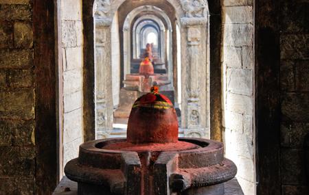 Yoni and Lingam at Pashupatinath temple