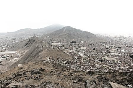 Bolivia / Capital La Paz view from mirador 版權商用圖片
