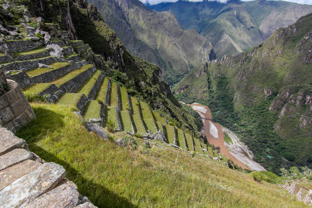 Artificial terraces in the Andes Imagens