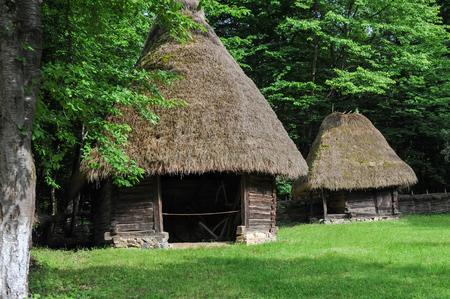 Balkan ancient house building Foto de archivo