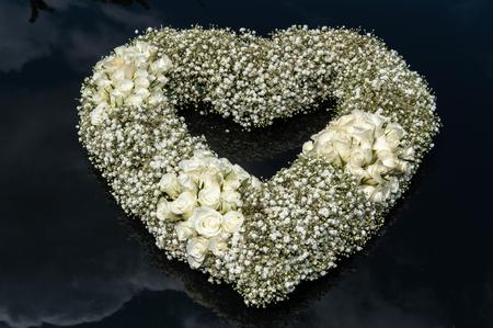 Heart shape bouquet of flowers Фото со стока
