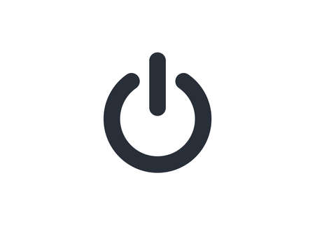 Power off, Power off icon vector, in trendy flat style isolated on white background. Power off icon image, Power off icon illustration. Icon button on-off.