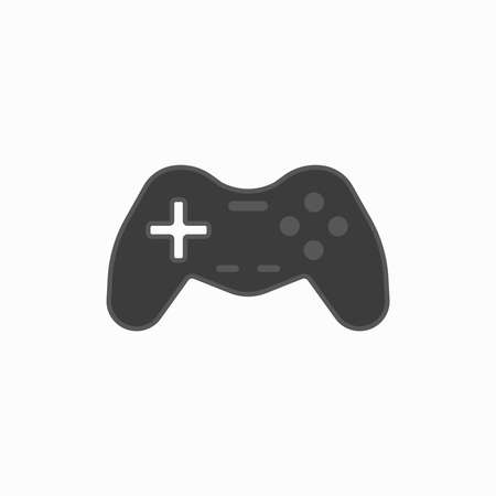 Video game control line style icon vector illustration design. Joystick to game console. Control panel. Consumer goods. Commodities. Flat controller gaming graphic. Logo.