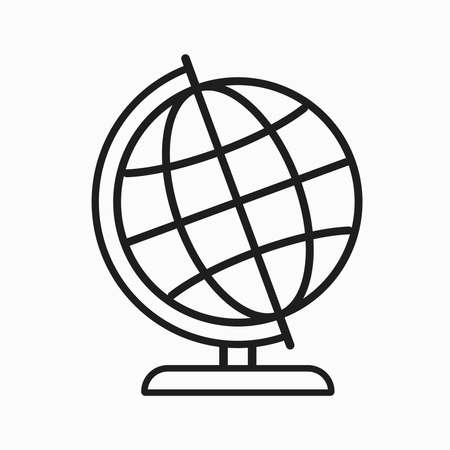 Earth globes isolated on white background. Flat planet Earth icon. Vector illustration.