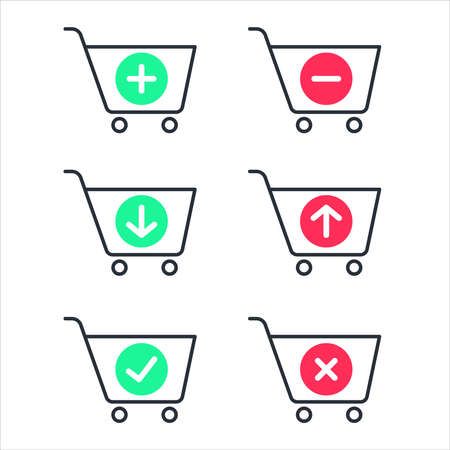 Shopping cart icon vector. Isolated on white background.