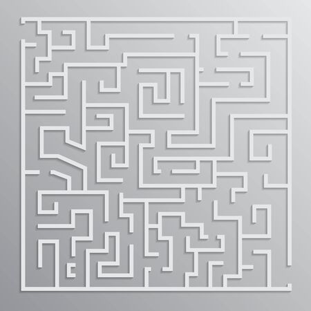 the solution: maze solution vector design