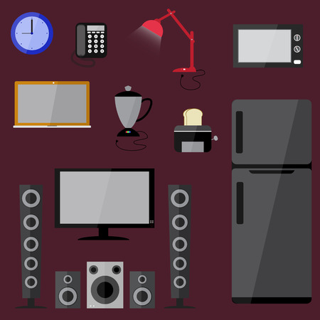 household equipment: electric electronics set  household equipment vector