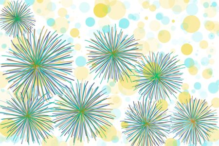 Abstract background with doodle art style on colorful dot with white background. Hand drawn illustration technic concept to present beautiful abstract wallpaper for all design.