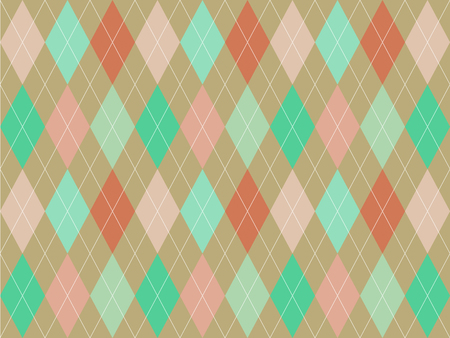 Beautiful pastel colorful triangle polygon on brown background in minimal and modern trendy geometric concept.Vector art pattern graphic design for wallpaper,textile,printed with vintage retro style. Иллюстрация
