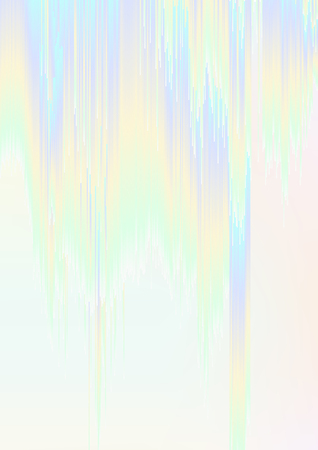 decomposition: Abstract background illustration with sliced gradient stripes. Glitched  colorful holographic surface. Flowing digital screen error. Element of design for a poster, cover, invitation, postcard or web. Illustration
