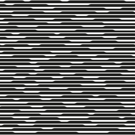 lineas horizontales: Monochrome abstract striped texture. Black and white horizontal lines. Endless repetitive element. Seamless pattern for a background. Vectores
