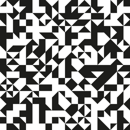 generative: Modern black and white triangular pattern. Generative texture for a background. Illustration