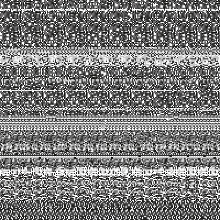 static: Static noise texture made of random repetitive gray rectangular dots. Corrupted display signal. Monochrome seamless pattern for a background.