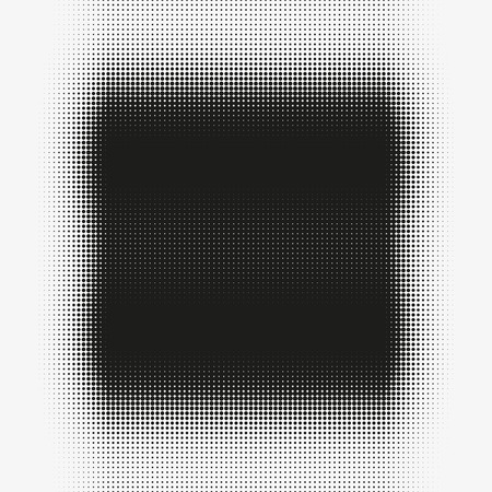 murky: Abstract vector halftone shape. Black round form made of particles. Modern illustration with splattered array of dots. Gradation of tone. Element of design. Illustration