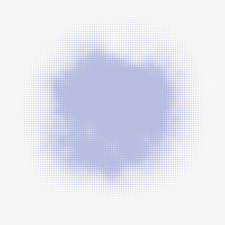 murky: Abstract vector halftone stain. Colorful blot made of round particles. Modern illustration with murky spot. Splattered array of dots. Gradation of tone. Element of design.