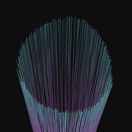 Modern abstract vector illustration with luminous vertical lines. Bunch of colorful futuristic radiant sticks. Element of design.