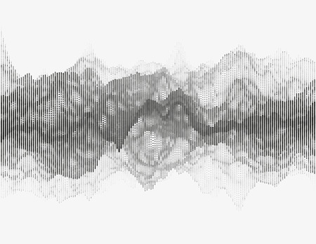 Segmented vector radio wave. Advanced digital music visualization. Detailed audio data analytics. Illustration