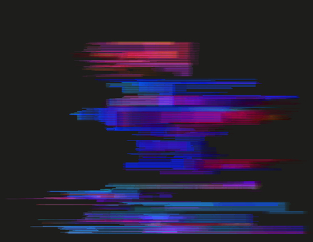 Glitched horizontal stripes. Abstract digital signal error and collapsing data. Element of design.