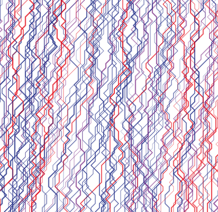 Modern colorful vector linear background with streams of cybernetic pathways. Contemporary random geometric texture. Backdrop with array of irregular lines. Element of design.
