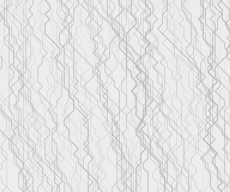 Modern monochrome vector linear background with streams of cybernetic pathways. Contemporary random geometric texture. Backdrop with array of irregular lines. Element of design. Illustration
