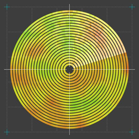 geolocation: Modern decorative technical vector illustration. Visual thermal navigation system.