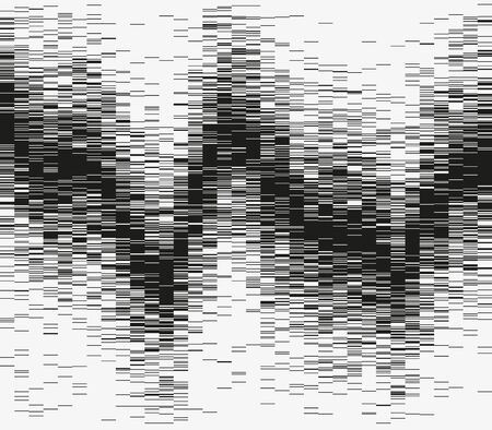 Monochrome abstract vector illustration. Advanced big data analytics. Modern visualization of a complex informational system. Graphic representation of random wave distribution. Element of design.