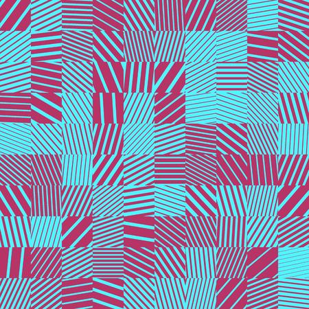 Rectangular colorful seamless pattern with random striped blocks.