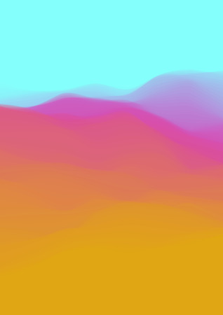 Colorful fluid dynamic wavy structure. Ilustrace
