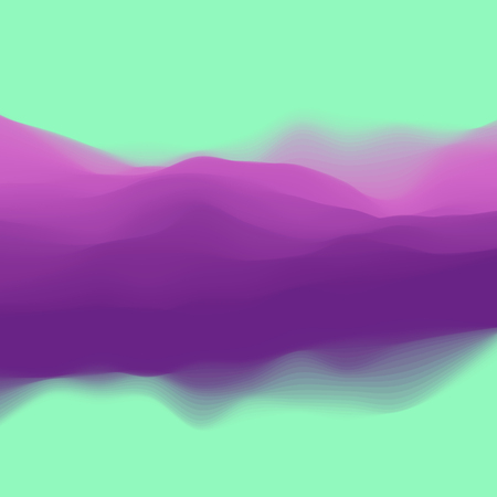 Colorful twisted dynamic wavy structure. Modern abstract illustration with flowing digital vapor. Futuristic background with iridescent clouds. Soft fluid gradient surface. Element of design.