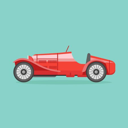 racing: Retro sport racing car Illustration