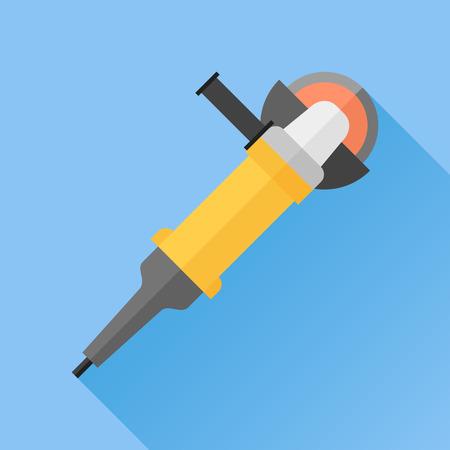 angle grinder: Angle grinder flat icon
