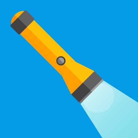Flashlight flat icon Ilustração