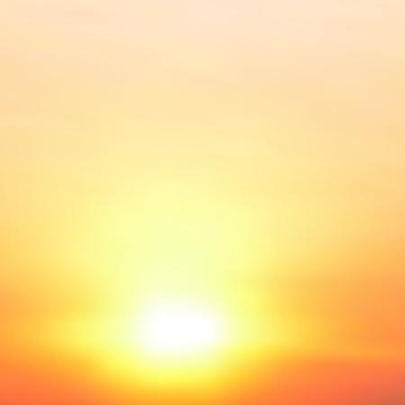 Auszug unscharfer Vektor Hintergrund. Sonnenuntergang.