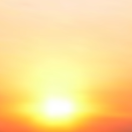 Abstract blurred vector background. Sunset. Illustration