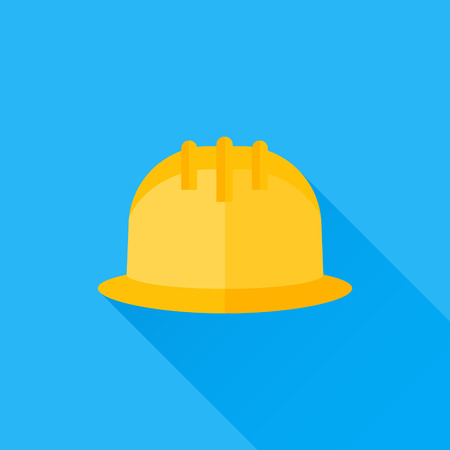 work safety: Safety helmet flat icon
